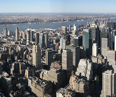 New York City - View From Empire State Building - 121234 Print by DC Photographer