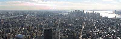 New York City - View From Empire State Building - 121235 Print by DC Photographer