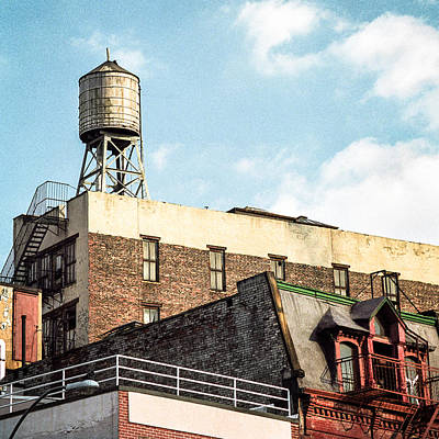 New York City Rooftop Photograph - New York City Water Tower 2 by Gary Heller