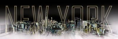 Black Top Digital Art - New York Digital-art No.2 by Melanie Viola