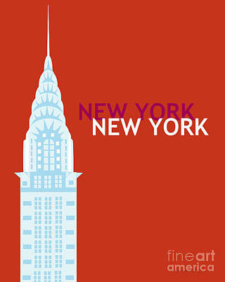 Chrysler Building Digital Art - New York Empire State by Karen Young