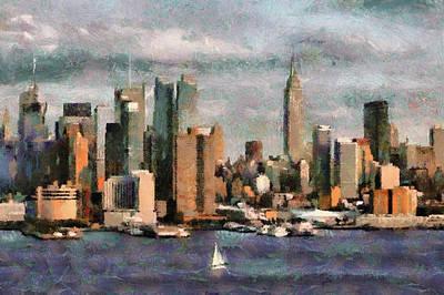 Twin Towers Nyc Painting - New York by Georgi Dimitrov