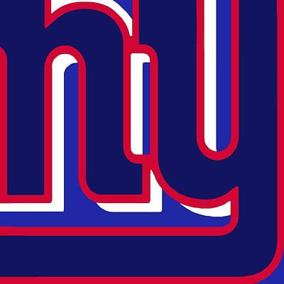 Nyc Mixed Media - New York Giants Football 3 by Tony Rubino