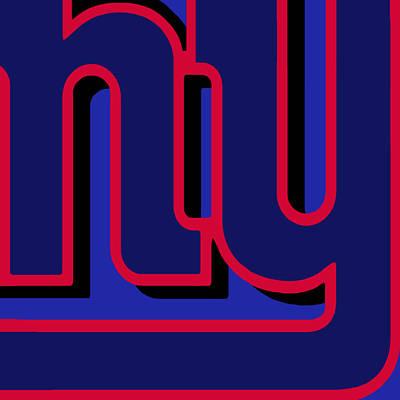 Nyc Mixed Media - New York Giants Football by Tony Rubino