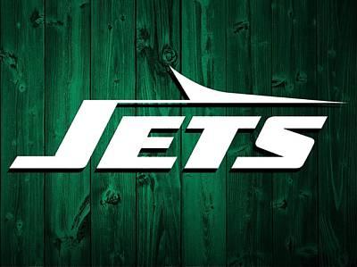 Jet Mixed Media - New York Jets Barn Door by Dan Sproul
