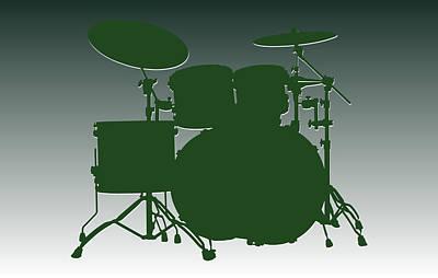Drum Photograph - New York Jets Drum Set by Joe Hamilton