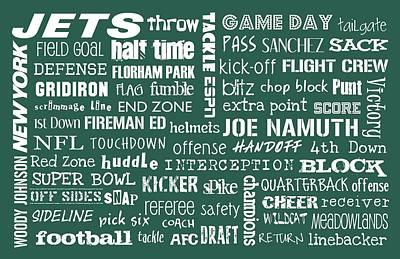 New York Jets Print by Jaime Friedman