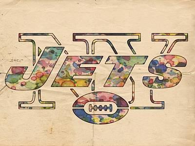 New York Jets Poster Vintage Print by Florian Rodarte