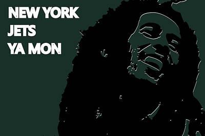 Drum Photograph - New York Jets Ya Mon by Joe Hamilton