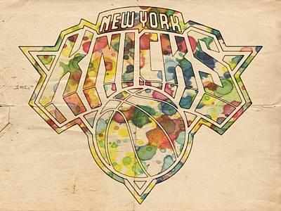 Basketball Painting - New York Knicks Logo Art by Florian Rodarte