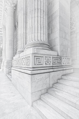 Nyc Photograph - New York Library Columns by Susan Candelario