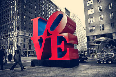 New York Love Print by Boris Gorelik