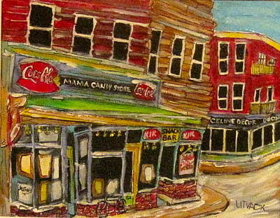 Litvack Painting - New York Mama Candy Store by Michael Litvack