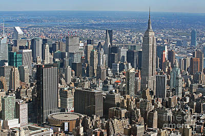 Madison Square Garden Photograph - New York Manhattan Areal View  by Lars Ruecker