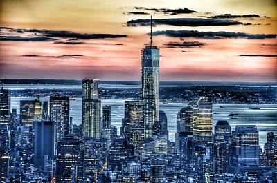 New York - Manhattan Landscape Print by Marianna Mills