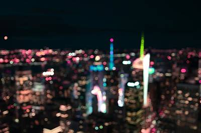 Rooftop Photograph - New York Manhattan Time Square Abstract by Marianna Mills