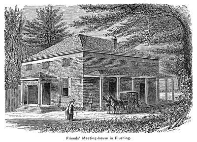 New York Meetinghouse Print by Granger