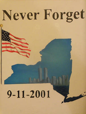 Twin Towers Nyc Painting - New York Memorial by Ricky Haug