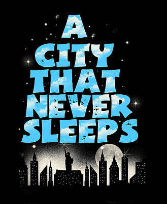 New York City Skyline Digital Art - New York by Neelanjana  Bandyopadhyay
