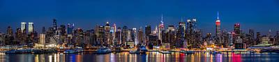 New York Panorama At Dusk Original by Mihai Andritoiu