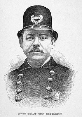 Badge Painting - New York Police Officer by Granger