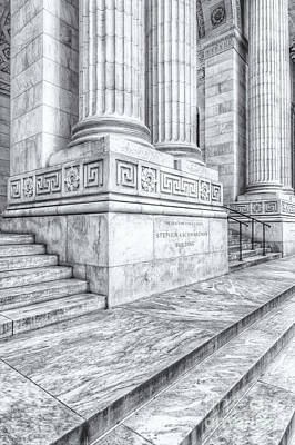 New York Public Library Columns And Stairs II Print by Clarence Holmes
