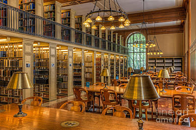 New York Public Library Genealogy Room I Print by Clarence Holmes