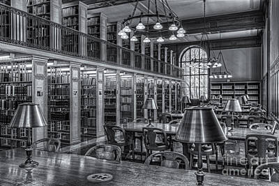 New York Public Library Genealogy Room II Print by Clarence Holmes