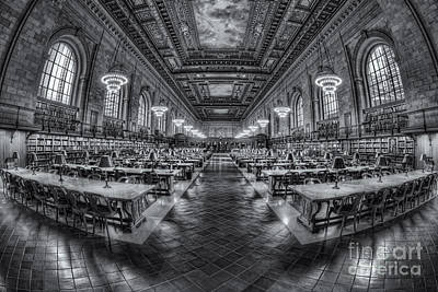 New York Public Library Main Reading Room Viii Print by Clarence Holmes