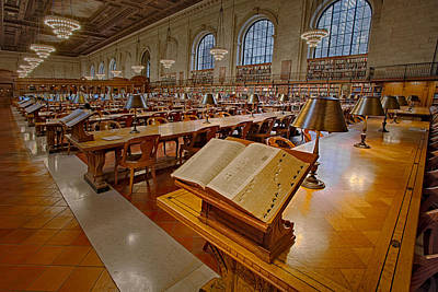 Books Photograph - New York Public Library Rose Main Reading Room  by Susan Candelario