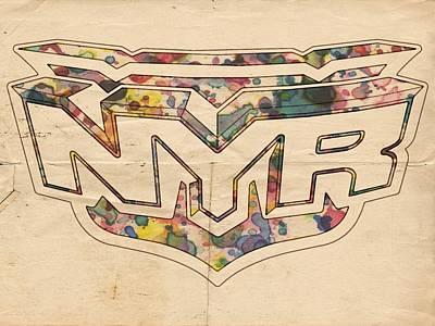 Athletes Painting - New York Rangers Retro Poster by Florian Rodarte