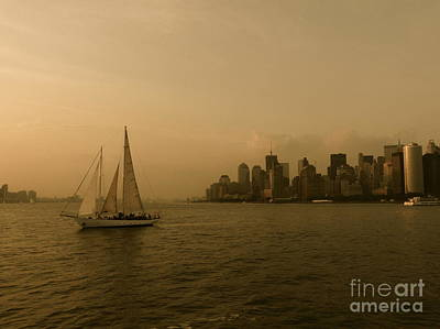 New York Sailing Print by Avis  Noelle