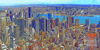 New York Skyline 20130430 Print by Wingsdomain Art and Photography