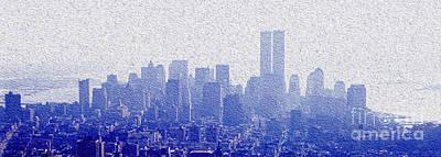 Empire State Building Mixed Media - New York Skyline by Jon Neidert