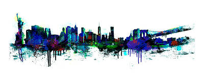 New York Spray Print by Simon Sturge