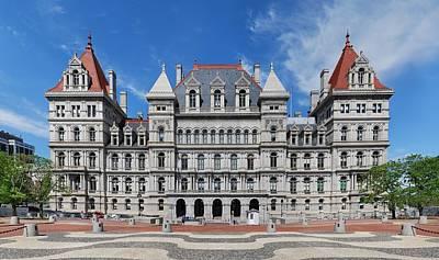 Capitol Building Digital Art - New York State Capitol by Georgia Fowler