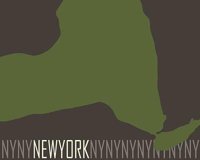 Nyc Digital Art - New York State Modern by Flo Karp