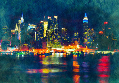 New York State Of Mind Abstract Realism Print by Georgiana Romanovna