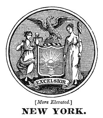 American Eagle Painting - New York State Seal by Granger