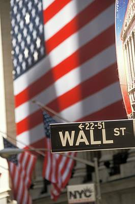 New York Stock Exchange Photograph - New York Stock Exchange And Wall Street by Jim West