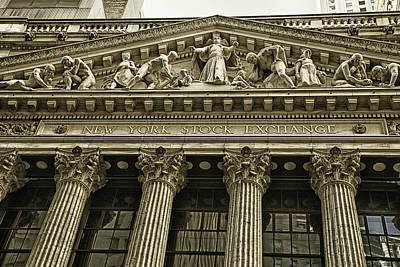 Nyse Photograph - New York Stock Exchange by Garry Gay