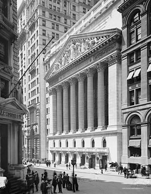 New York Stock Exchange, New York In 1904 Print by American School