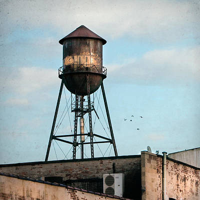 Industrial Icon Photograph - New York Water Tower 7 by Gary Heller