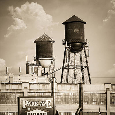 Industrial Photograph - New York Water Tower 8 - Williamsburg Brooklyn by Gary Heller