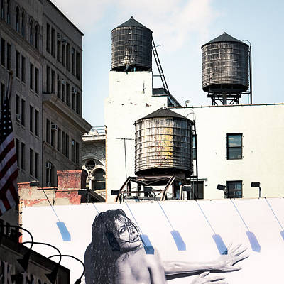 Urban Art Photograph - New York Water Towers 15 by Gary Heller