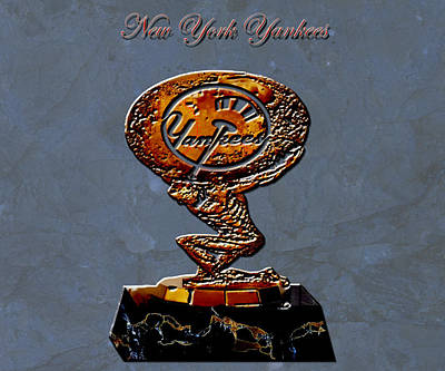 Mickey Mantle Digital Art - New York Yankees by Brian Reaves