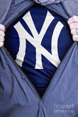 New York Yankees Fan Print by Antony McAulay
