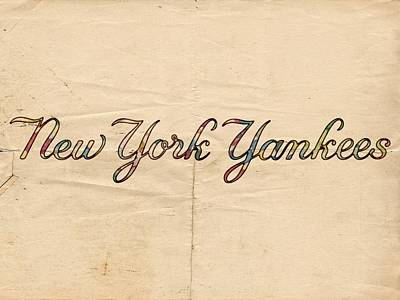 Jeter Painting - New York Yankees Logo Vintage by Florian Rodarte