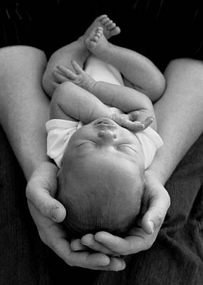 Toe Photograph - Newborn In Arms by Lisa Phillips