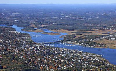 Bridge Photograph - Newburyport, Maine by Dave Cleaveland